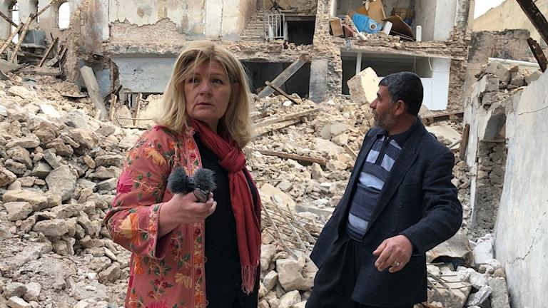 Cecilia Uddén i Mosuls ruiner