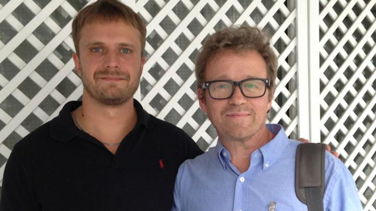 David Carlqvist och Peter Sivam. Foto: SR