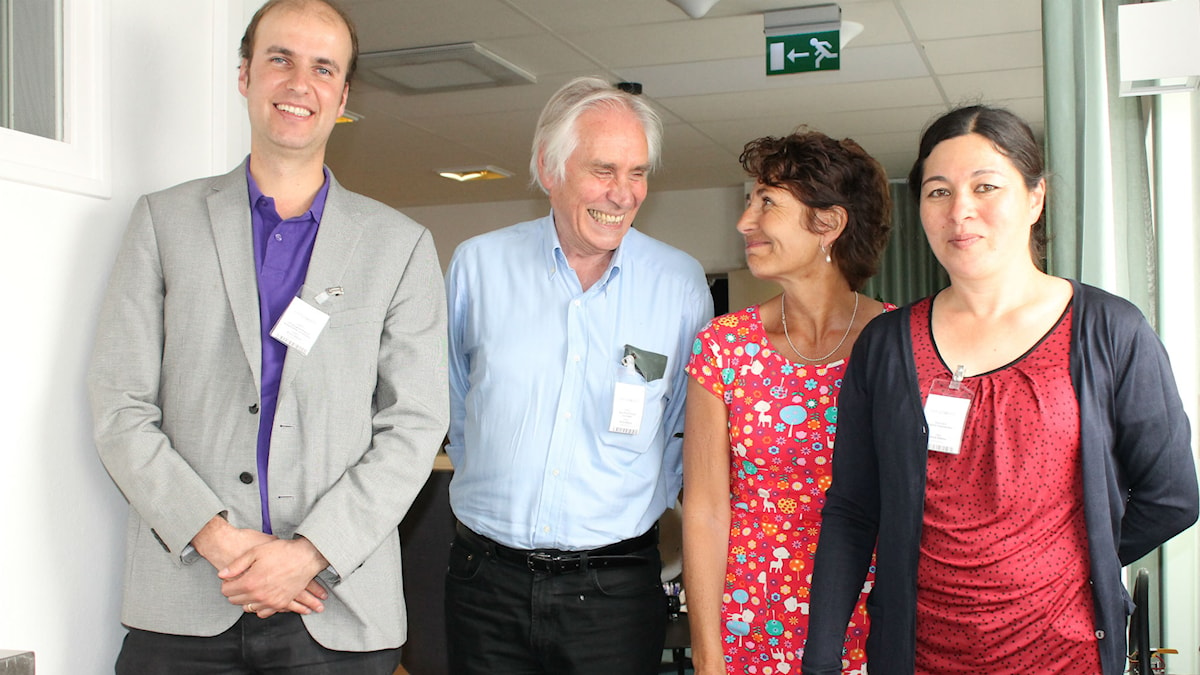 Christophe Premat, Jean-Paul Pouron, Alice Petrén och Carina Gunnarsson. Foto: Ülkü Holago/Sveriges Radio
