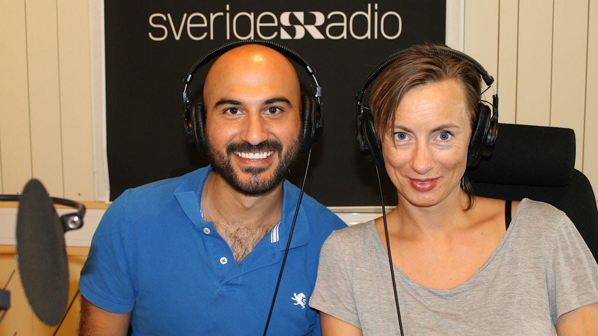 Asbed Wanes och Lisa Bergström. Foto: Maja Åström/Sveriegs Radio