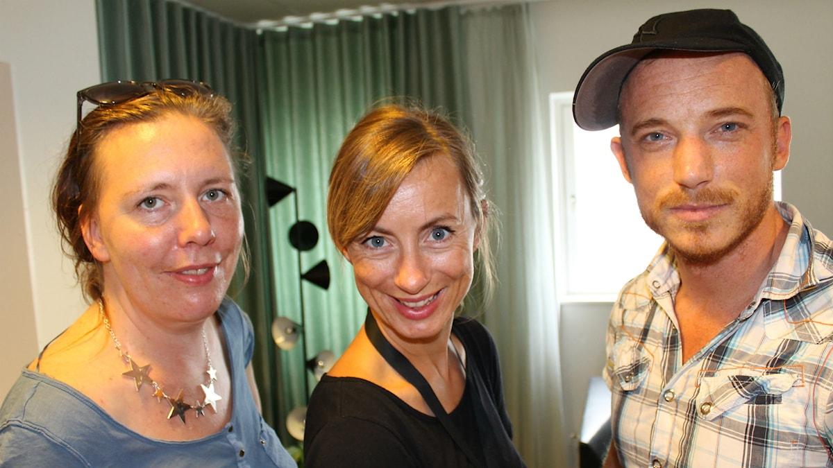 Martina Montelius, Lisa Bergström och Albin Flinkas om det offentliga rummet. Foto: Maja Åström / Sveriges Radio
