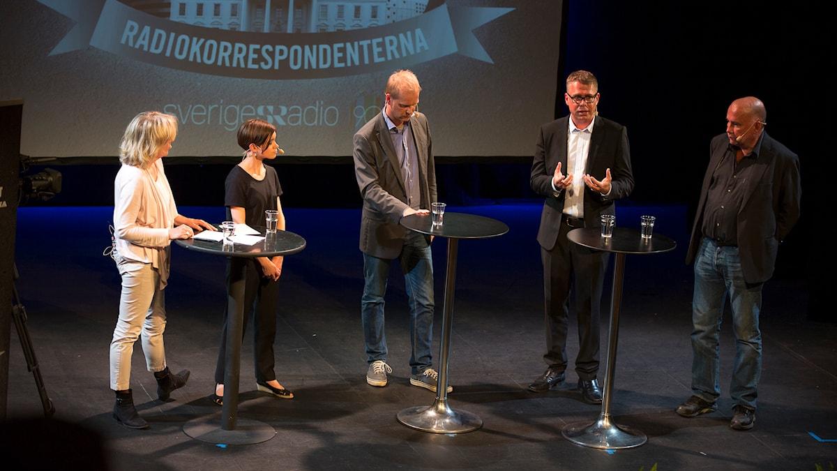 Helena Groll, Johanna Melén, Kristian Åström, Jan Andersson och Staffan Sonning. Foto: Mikael Grönberg/Sveriges Radio.