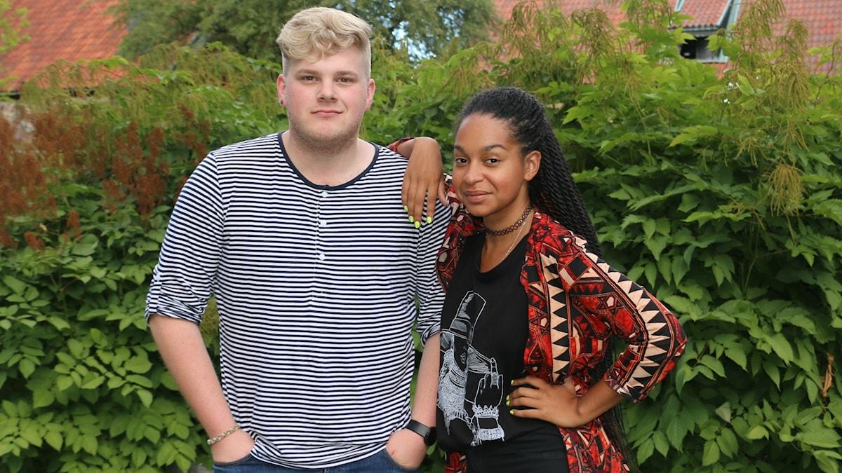 Simon Rosenqvist och Palmira Koukkari Mbenga