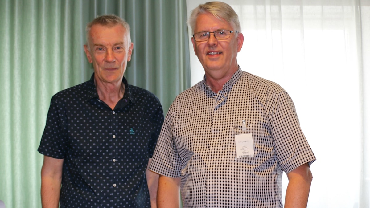 SR-prfilen Lennart Wretlind och Ake Wall, projektledare på Luftfartsverket.