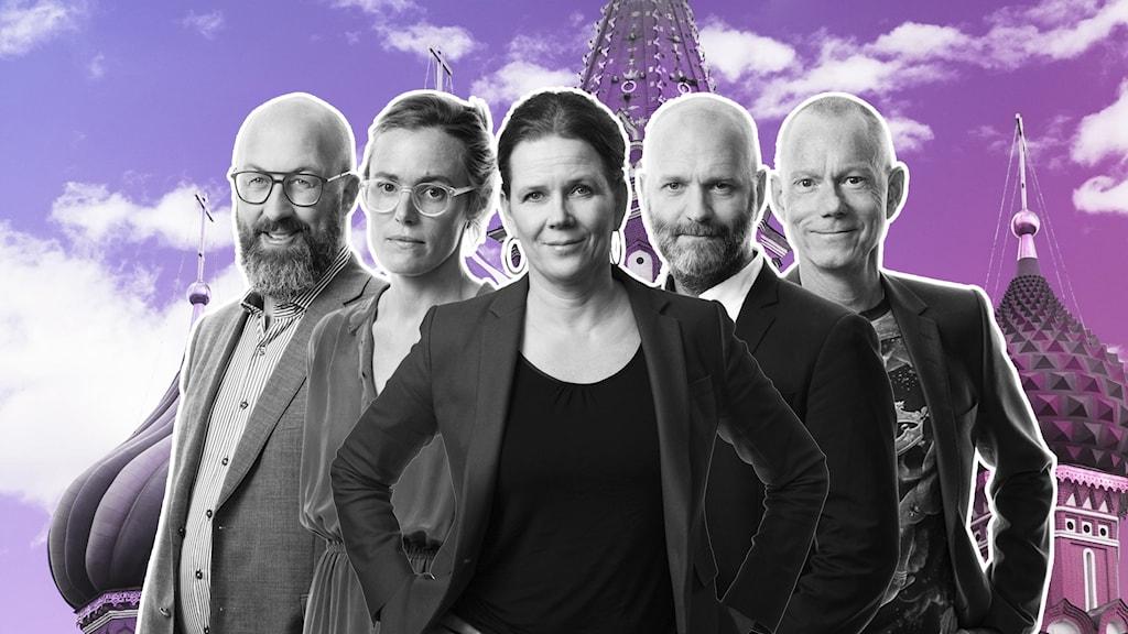 Jens Möller, Lotten Collin, Marie-Louise Kristola, David Rasmusson och Peder Gustafsson.