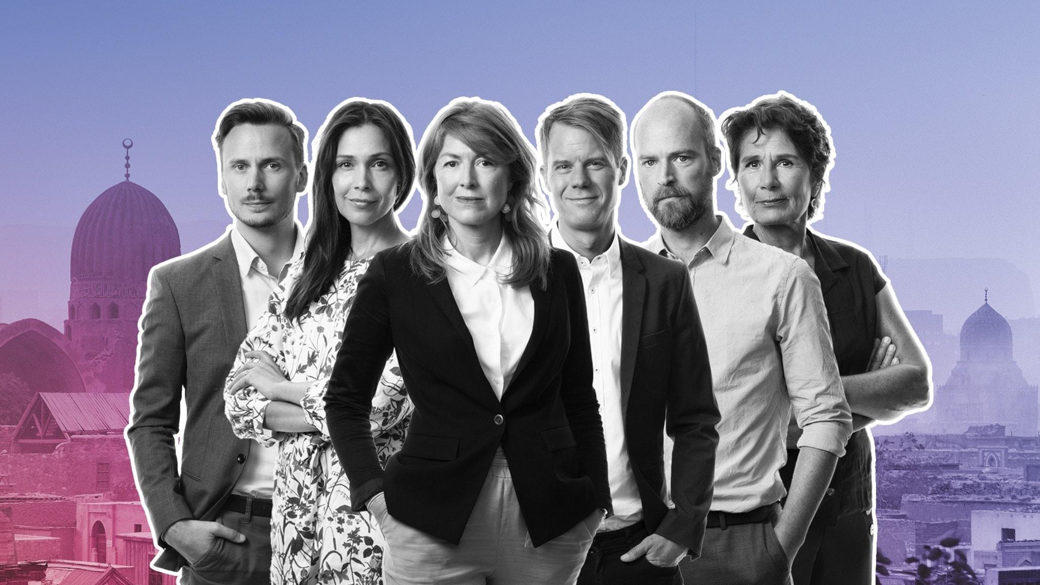 Björn Djurberg, Caroline Salzinger, Kajsa Boglind, Andreas Liljeheden, Samuel Larsson och Alice Petrén.