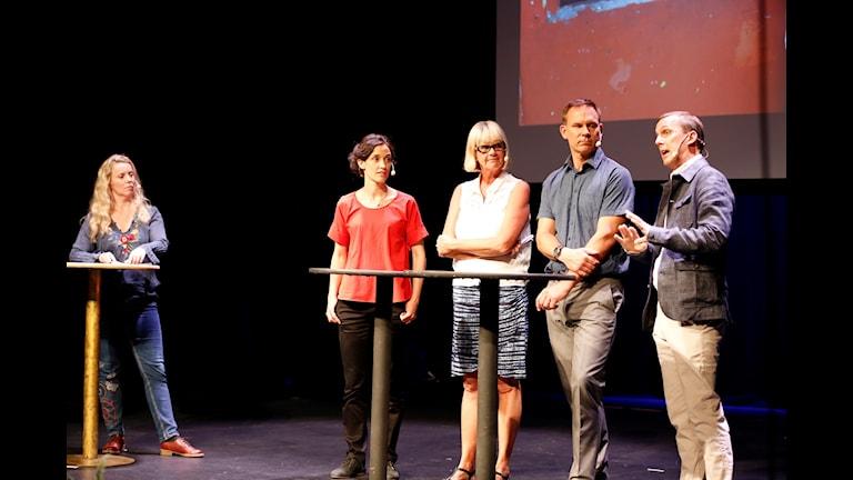 Från vänster: Ci Holmgren, Richard Myrenberg, Margita Boström, Hanna Sahlberg och Johan Bergendorff.