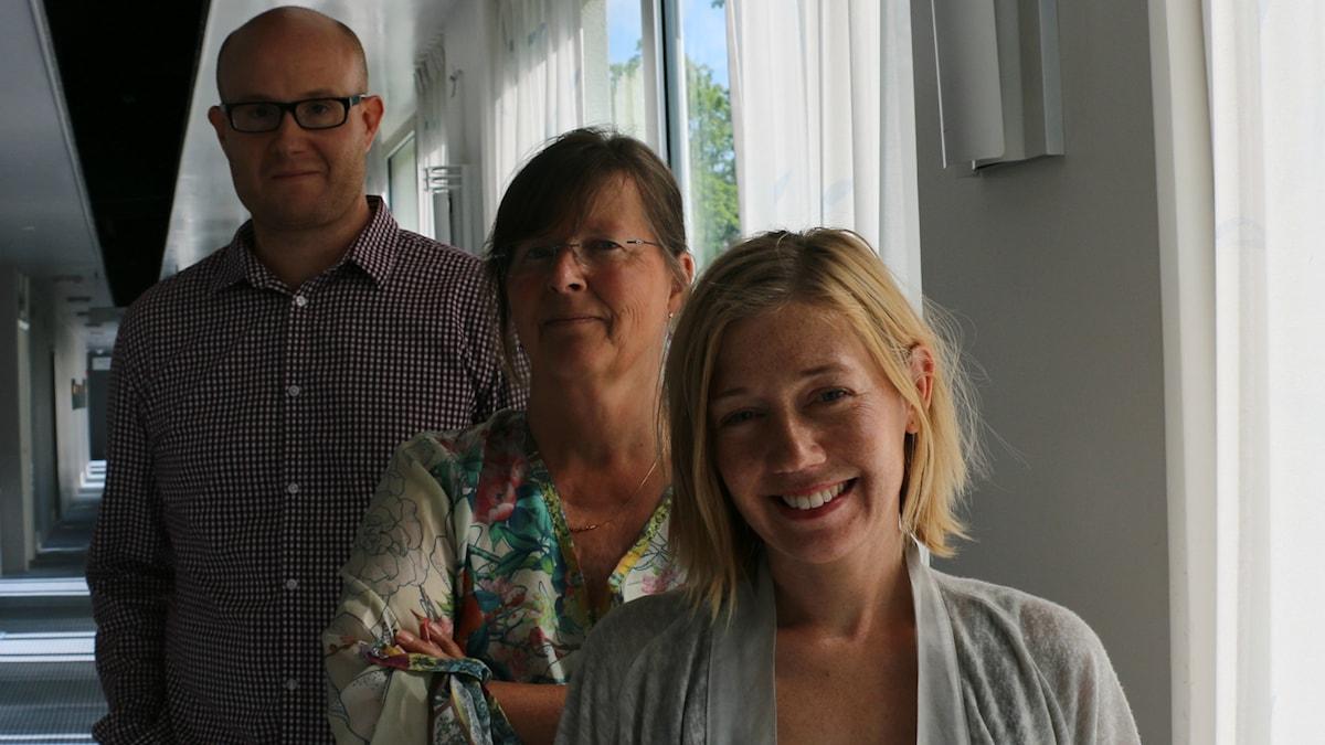 Erik Norbergh, Maria Persson Löfgren och Elin Jönsson.