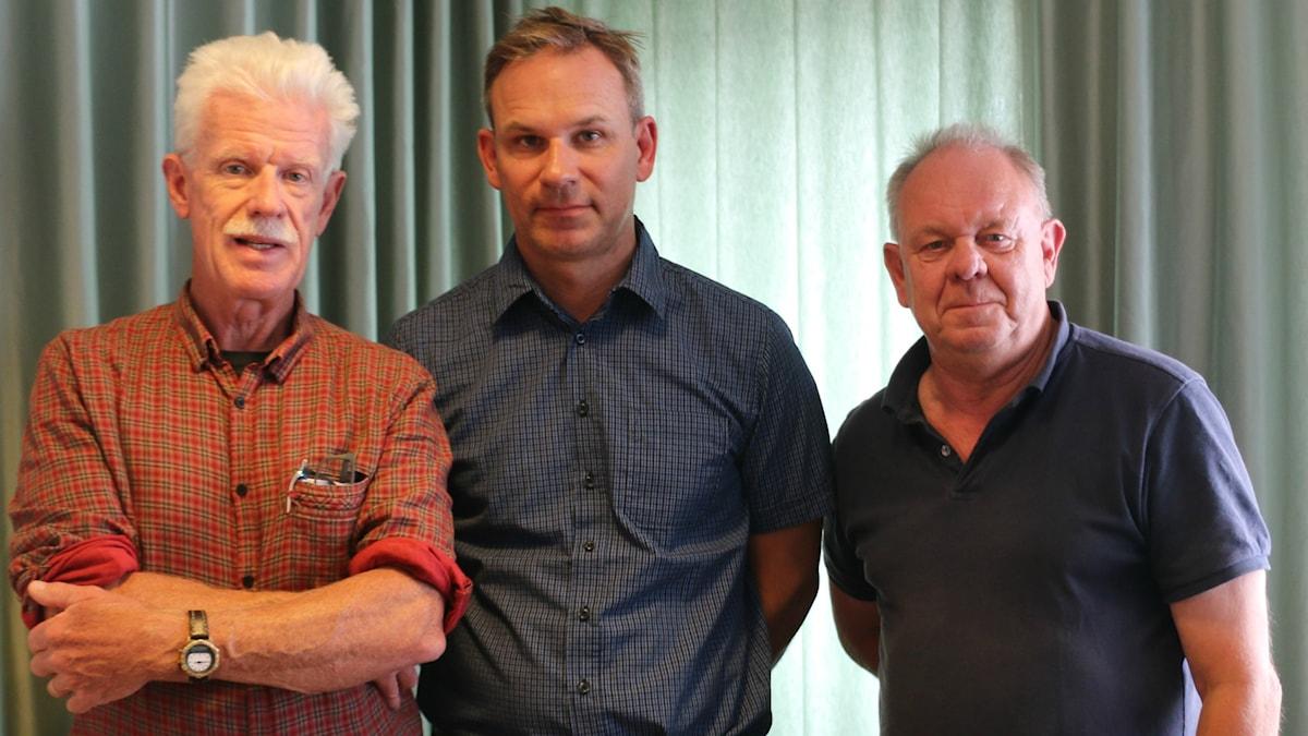 Bengt G. Nilsson, Richard Myrenberg och Vincent Dahlbäck.