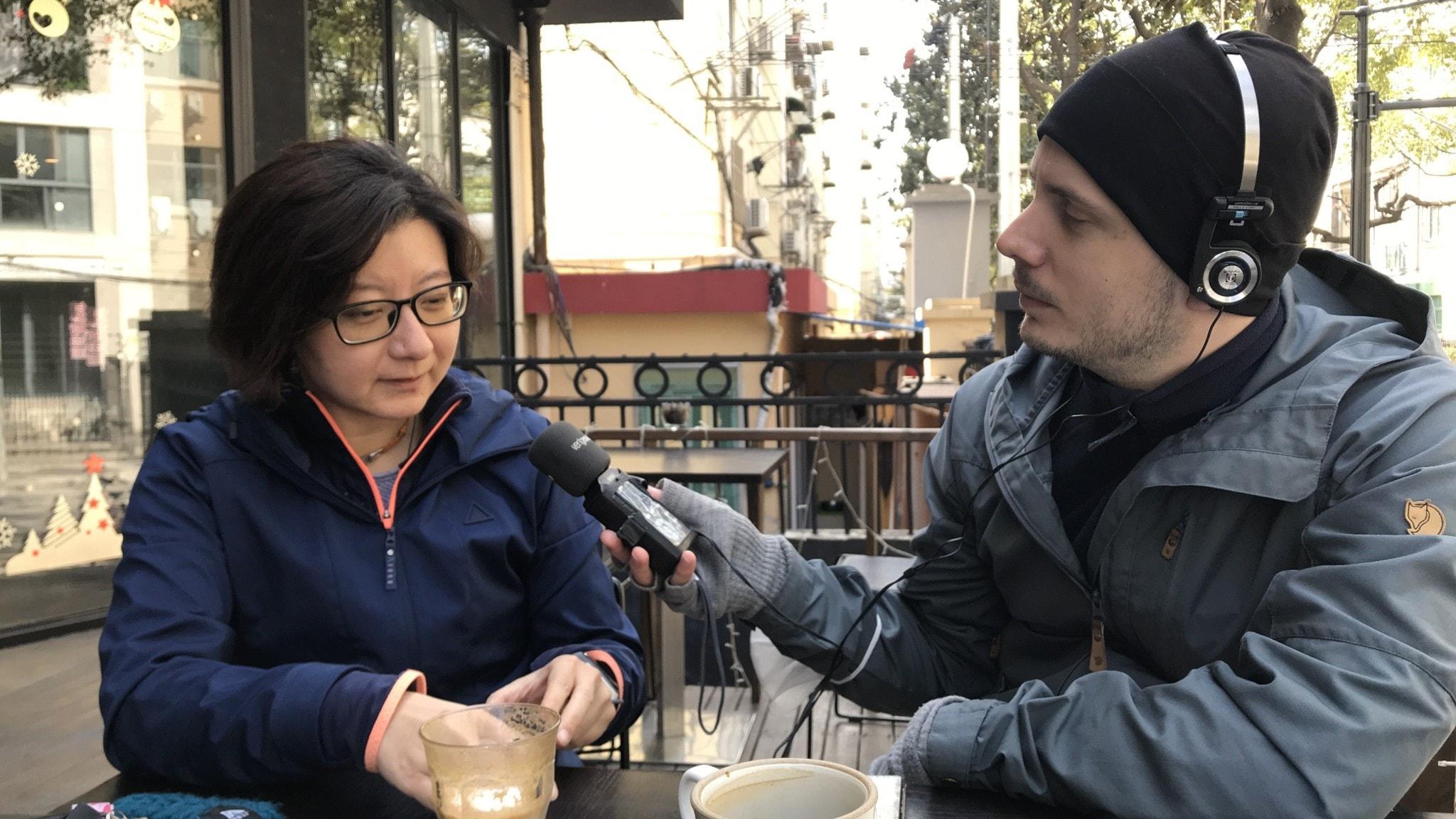 Björn Djurberg och Sharon i Shanghai