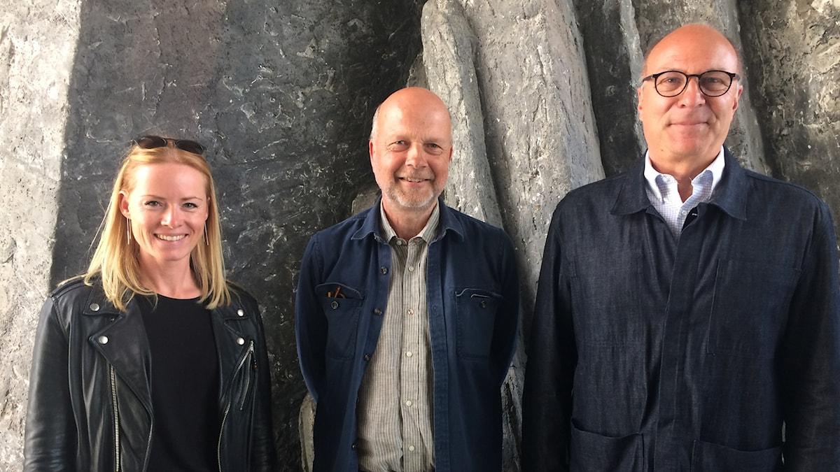 Rosi Haiden, Gunnar Bolin och Wolfgang Matl.