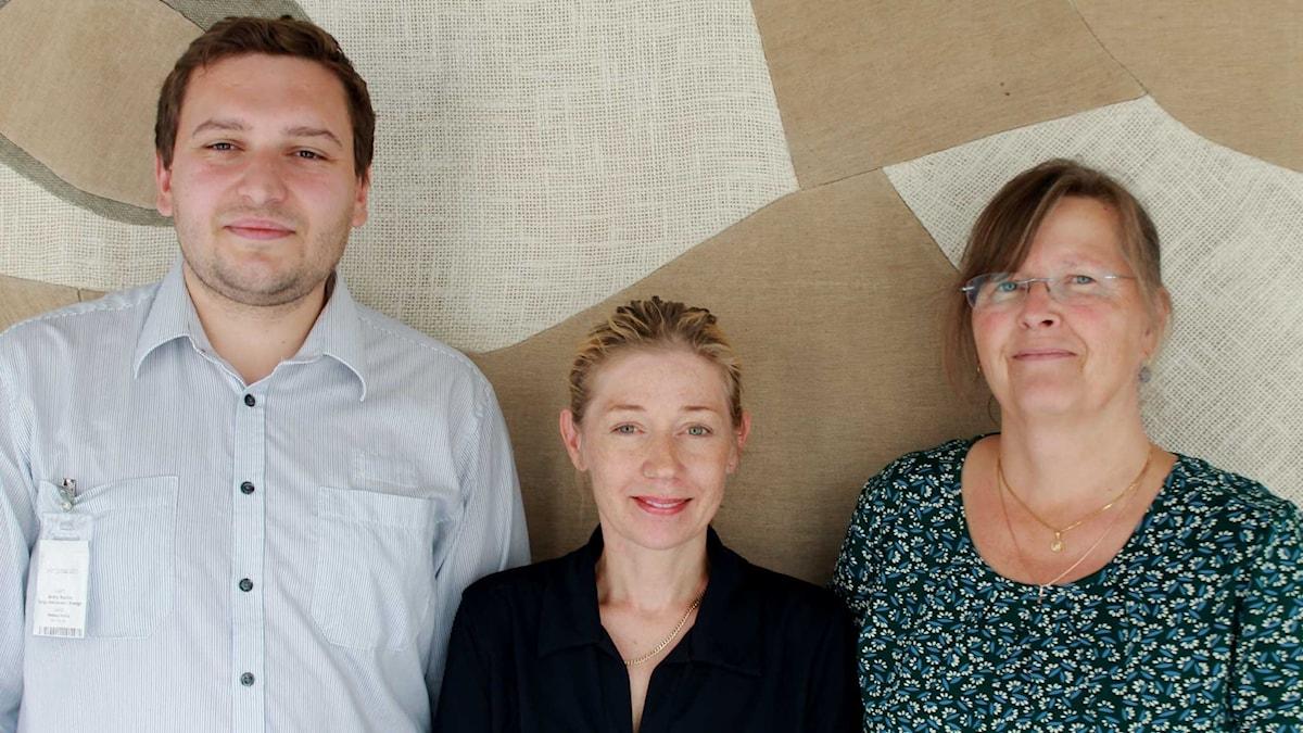 Andriy Kuchur, Elin Jönsson och Maria Persson Löfgren.