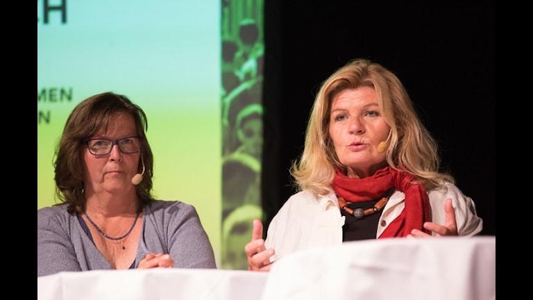 Maria Persson Löfgren och Cecilia Uddén.