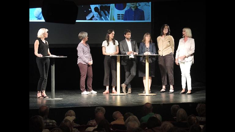 Ginna Lindberg i samtal med Fernando Arias, Maria Persson Löfgren, Margareta Svensson, Hanna Sahlberg, Margita Boström och Daniela Marquardt.