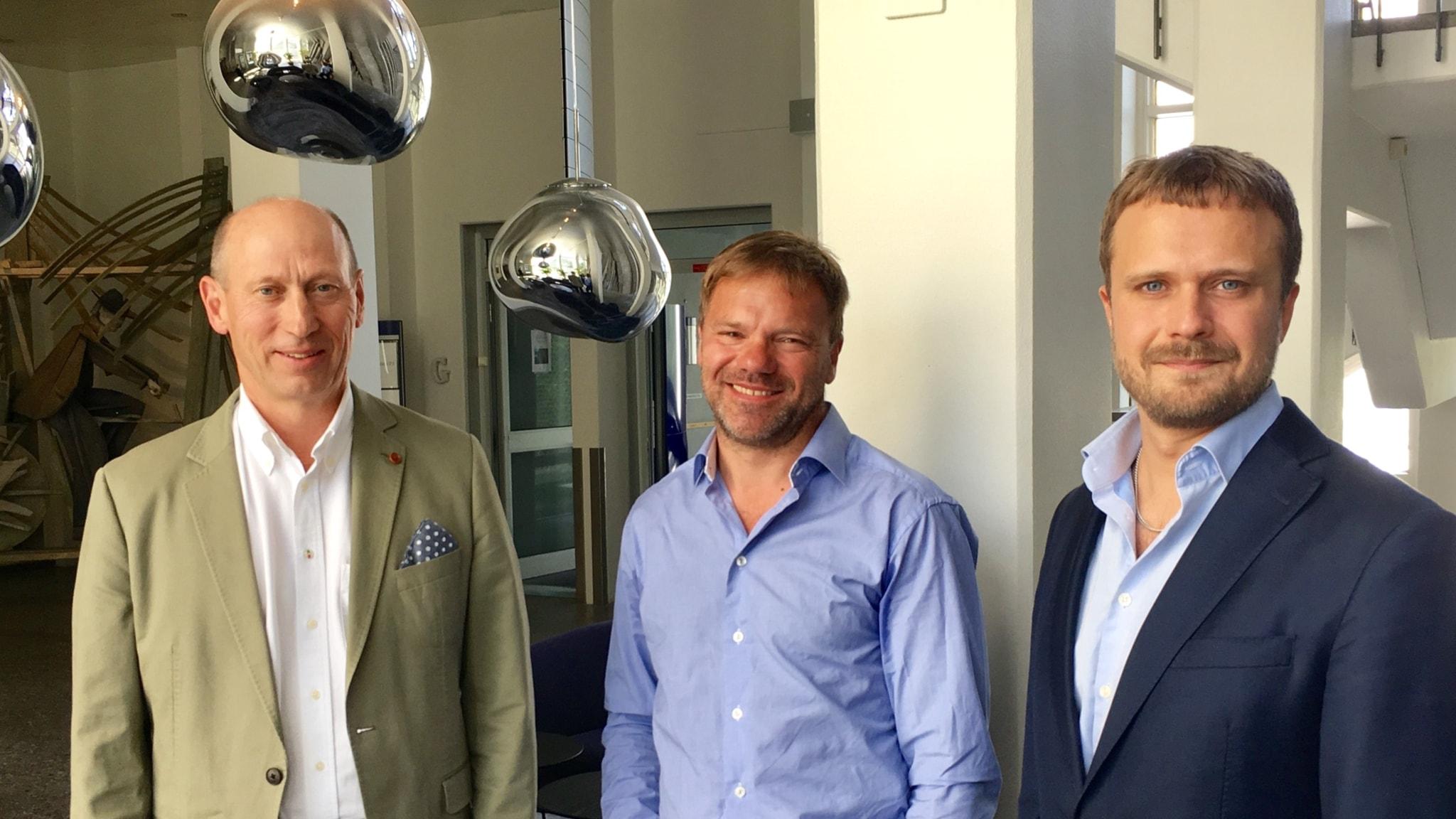 Mats Engman, John Rydqvist och David Carlqvist