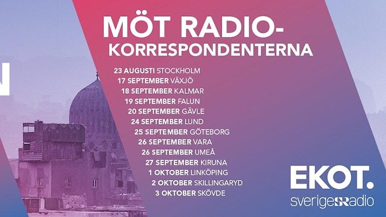 Turnéplan Radiokorrespondenterna 2018
