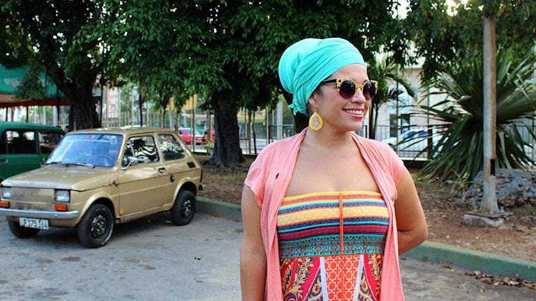 Sångerskan och spoken word-artisten Telmary är beredd att kämpa för att behålla den kubanska kulturen. Foto: Palmira Koukkari Mbenga/Sveriges Radio