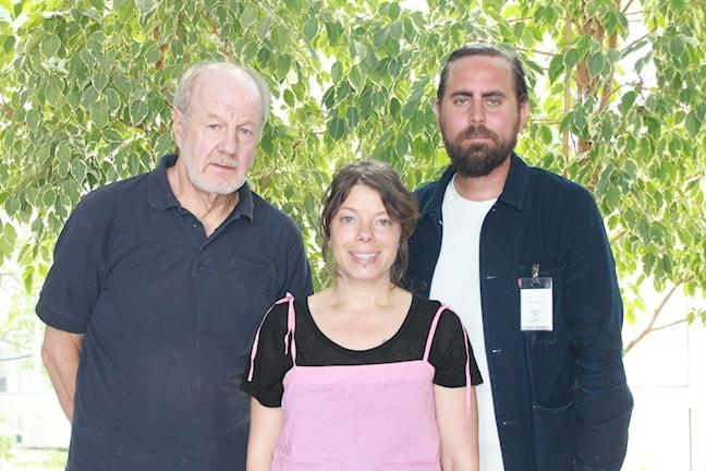 Sveriges Radios före detta Helsingforskorrespondent Bengt Lindroth, Thella Jonson, Philip Teir
