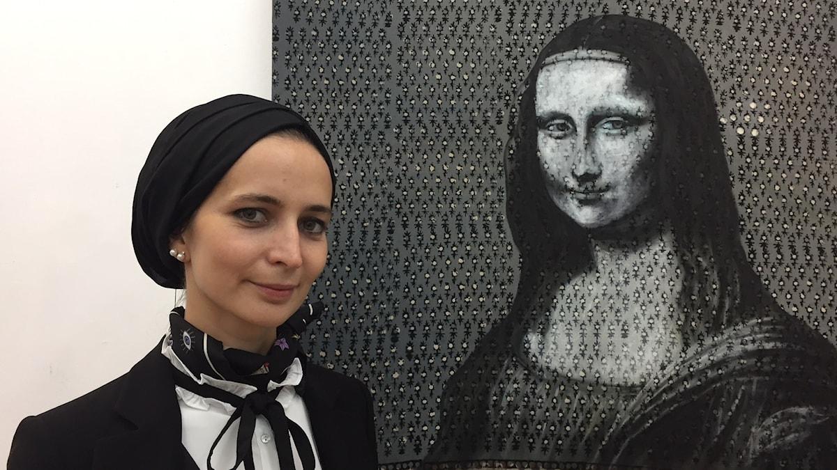 Konstnären Fatma Zeynep Cilek