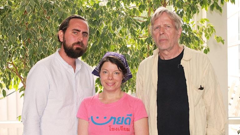 Philip Tier, Thella Johnson och Göran Sommardal.