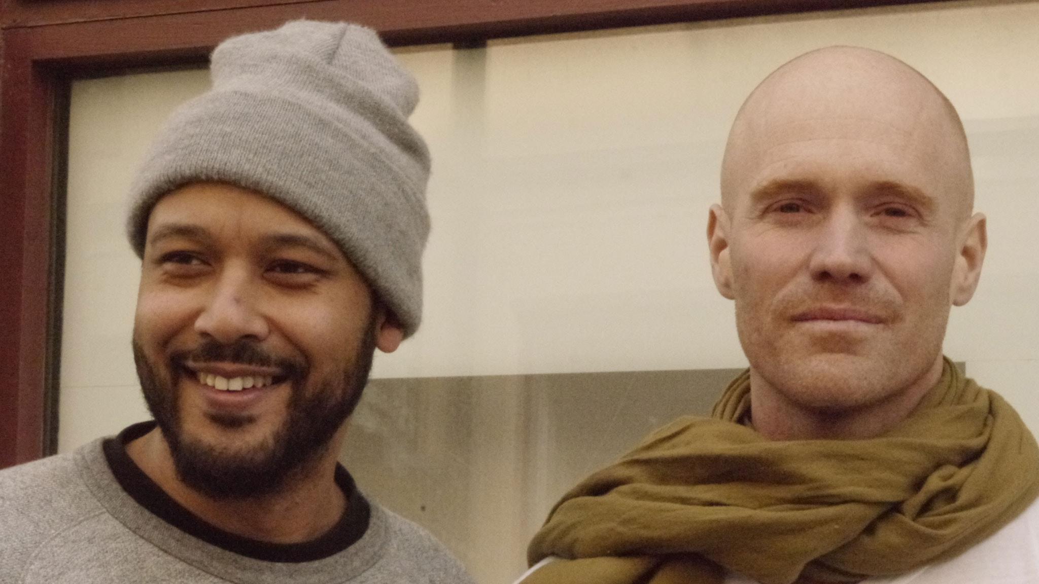 Daniel Jadama och Lars Lovén. Foto: Malin Hüber.