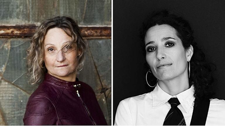 Marie Samuelsson och Trinelise Væring. Foto: Mats Bäcker och Tuala Hjarnø. Montage: Sveriges Radio.