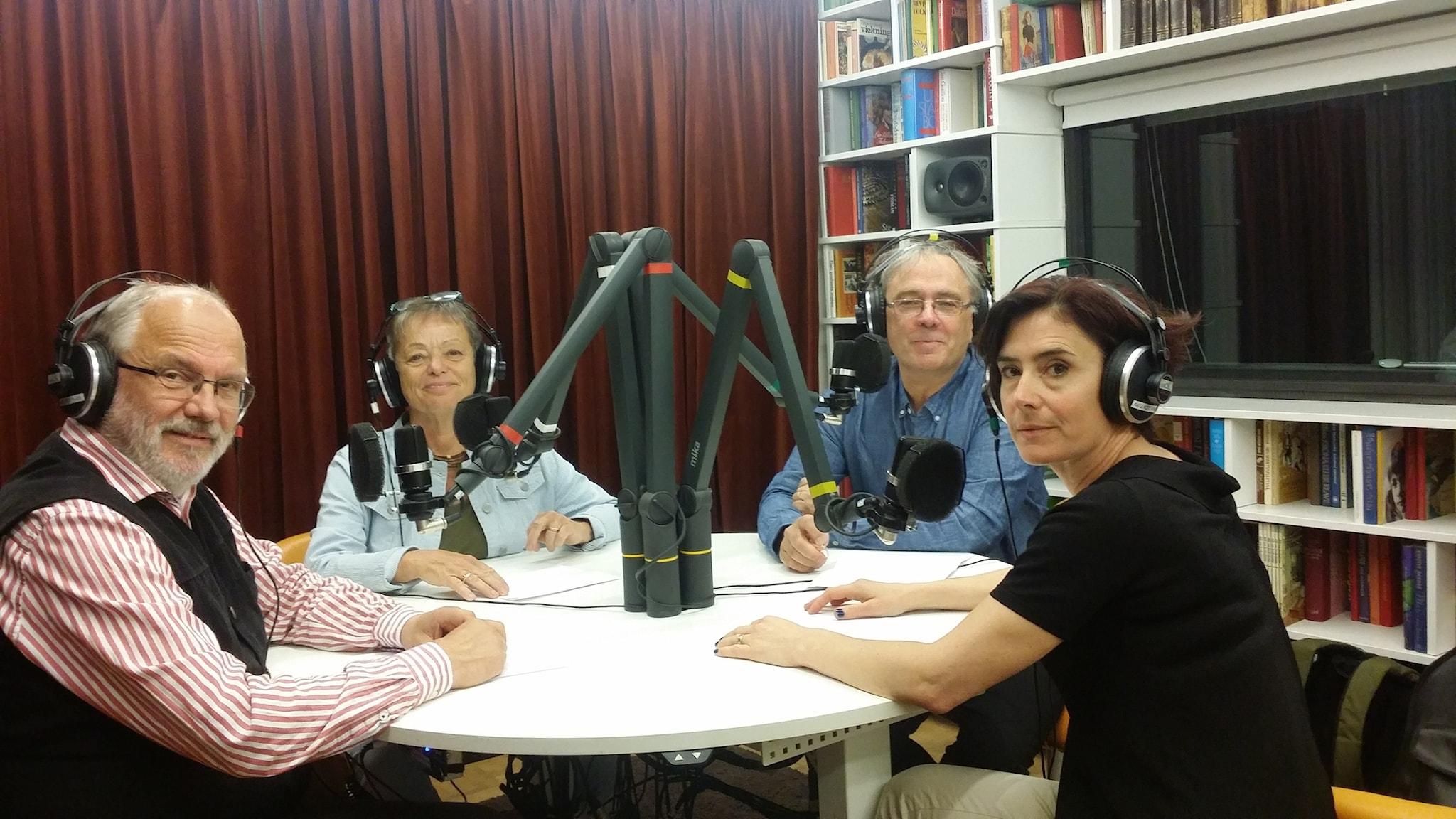 Stefan Bohman, Kathinka Lindhe, Dan Lundberg och Karin Strand. Foto: David Rune/SR