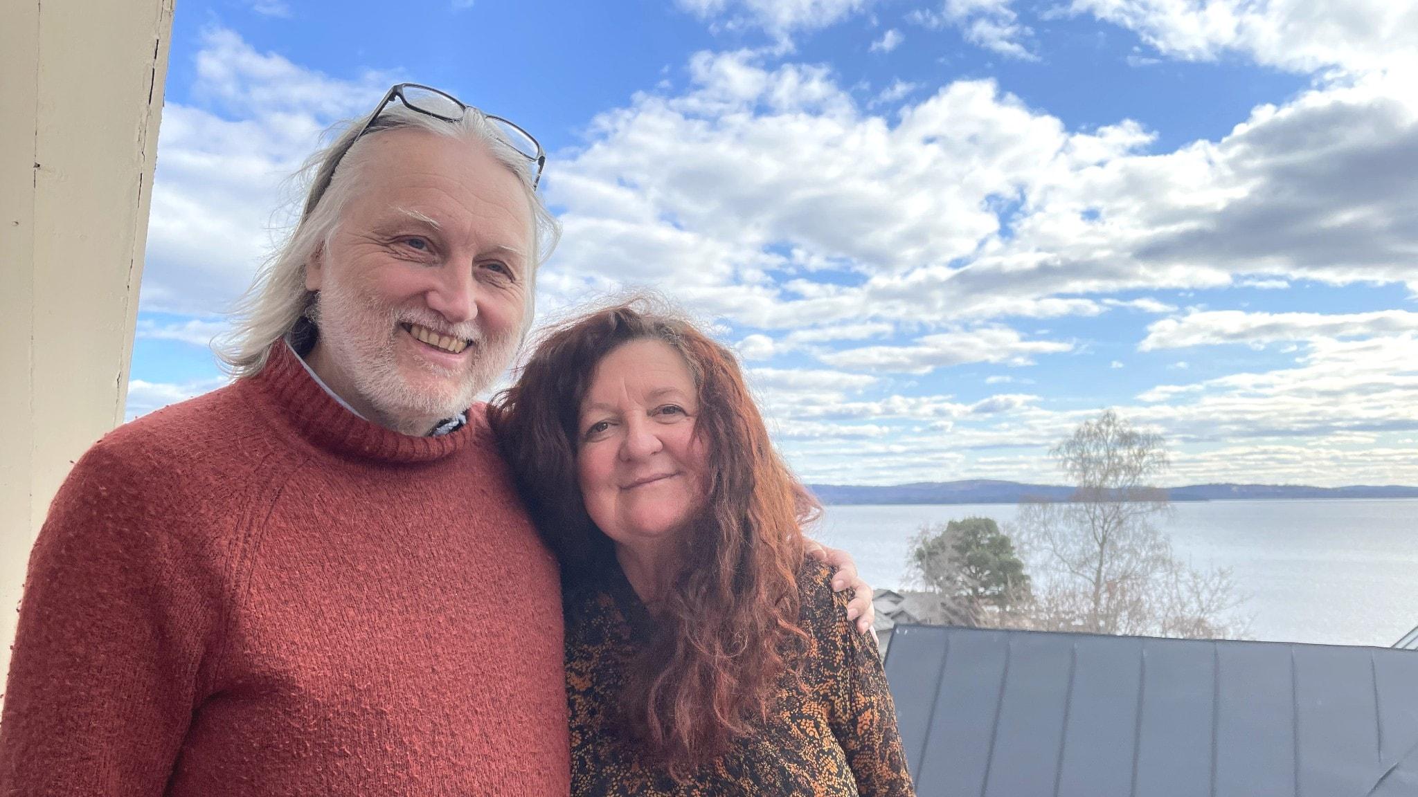 Anders Nyberg och hans fru Jennifer Ferguson.