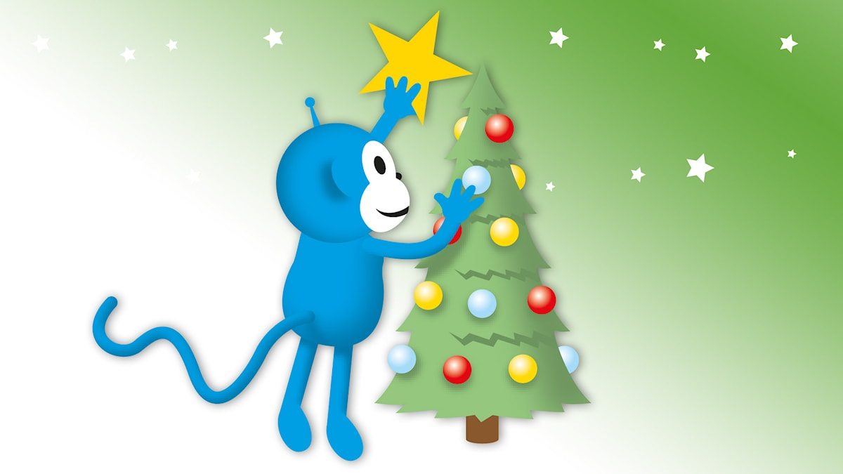 Viskvarten om jul: Radioapan sätter upp en stjärna i julgranens topp