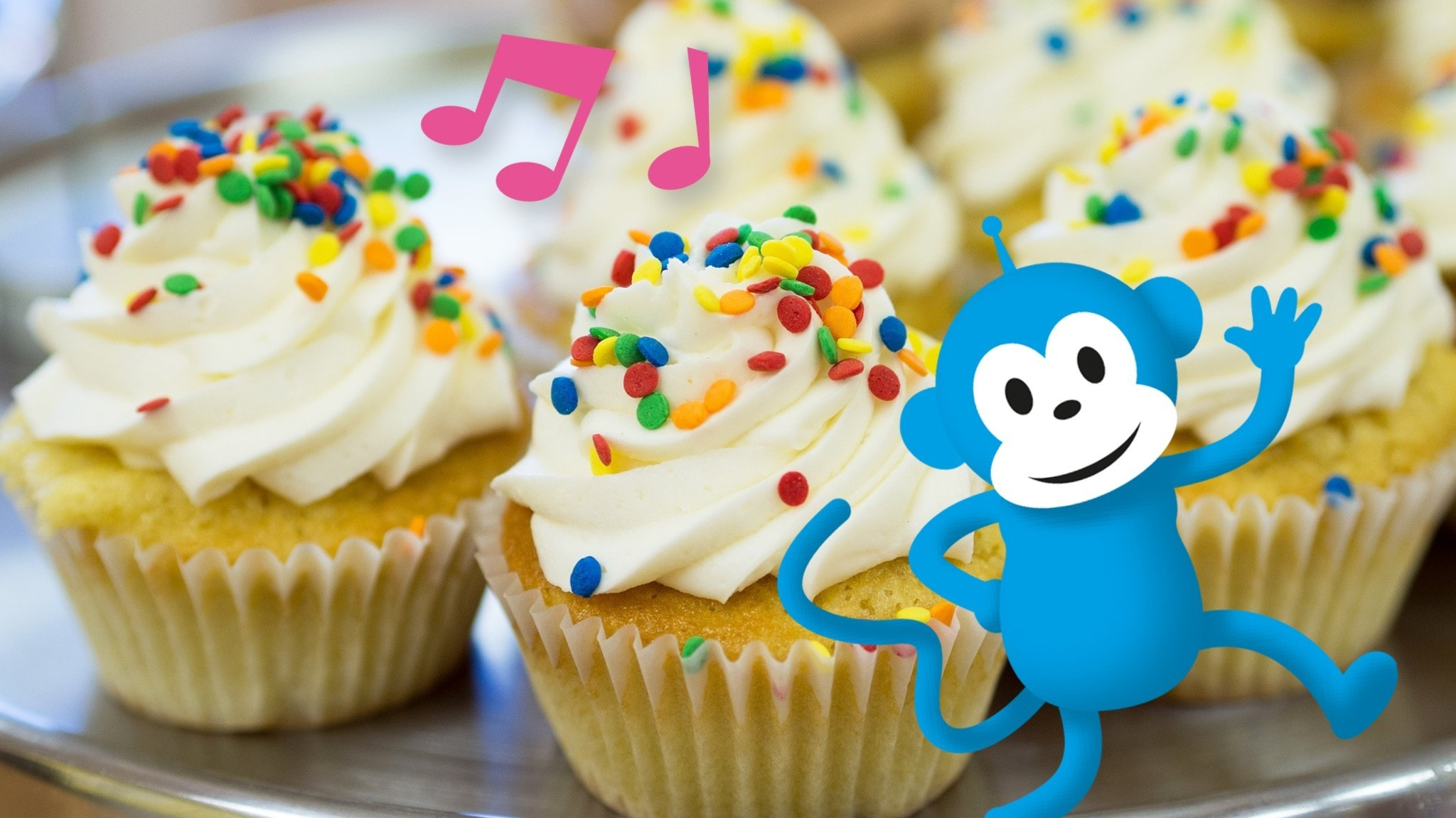 Radioapan med mumsiga cupcakes-muffins.