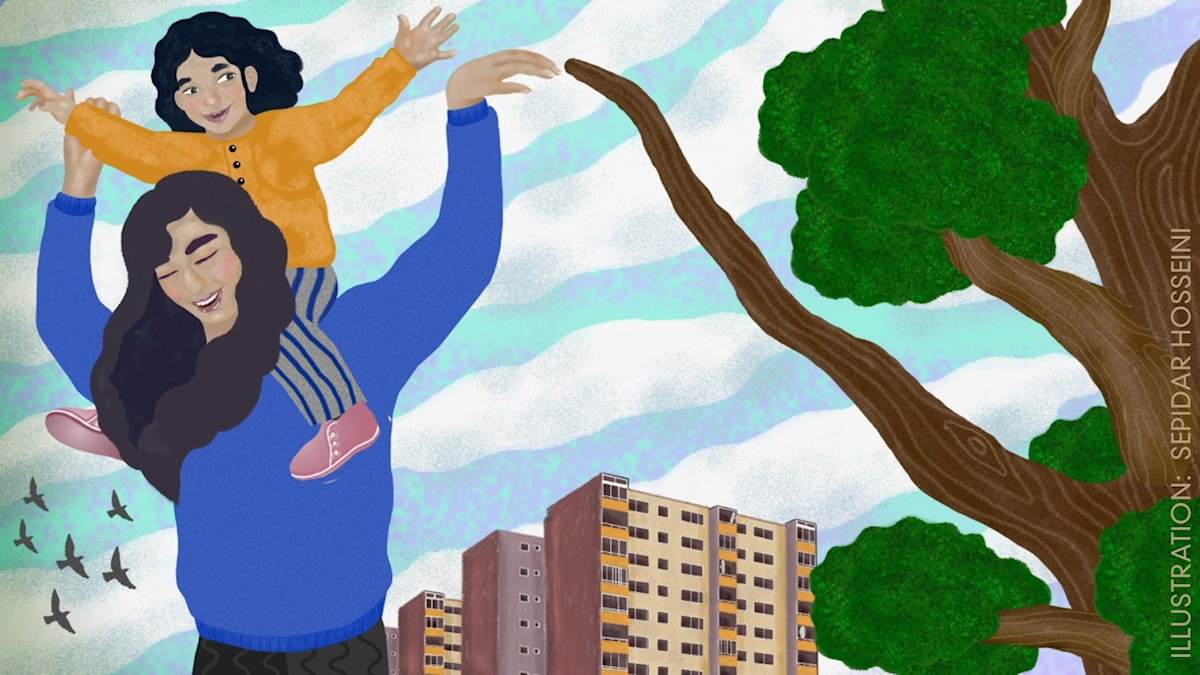 Tripp, Trapp, Träd: Titta vad jag kan Illustration: Sepidar Hosseini