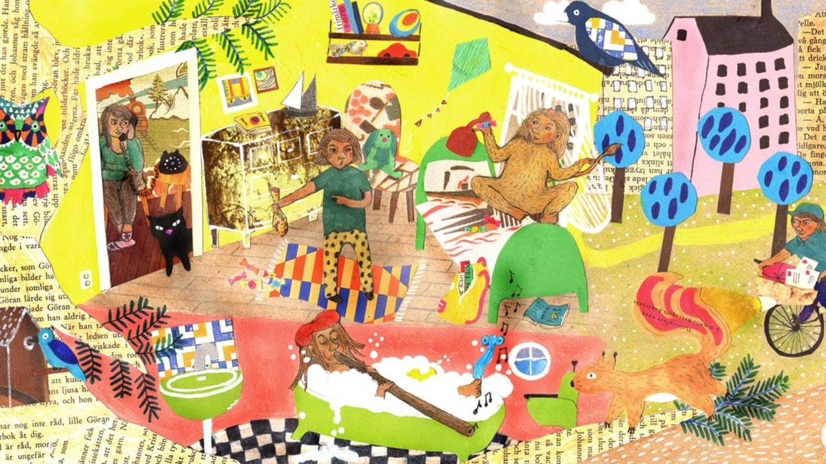 Lördagsgodis. Illustration: Moa Sandblad.