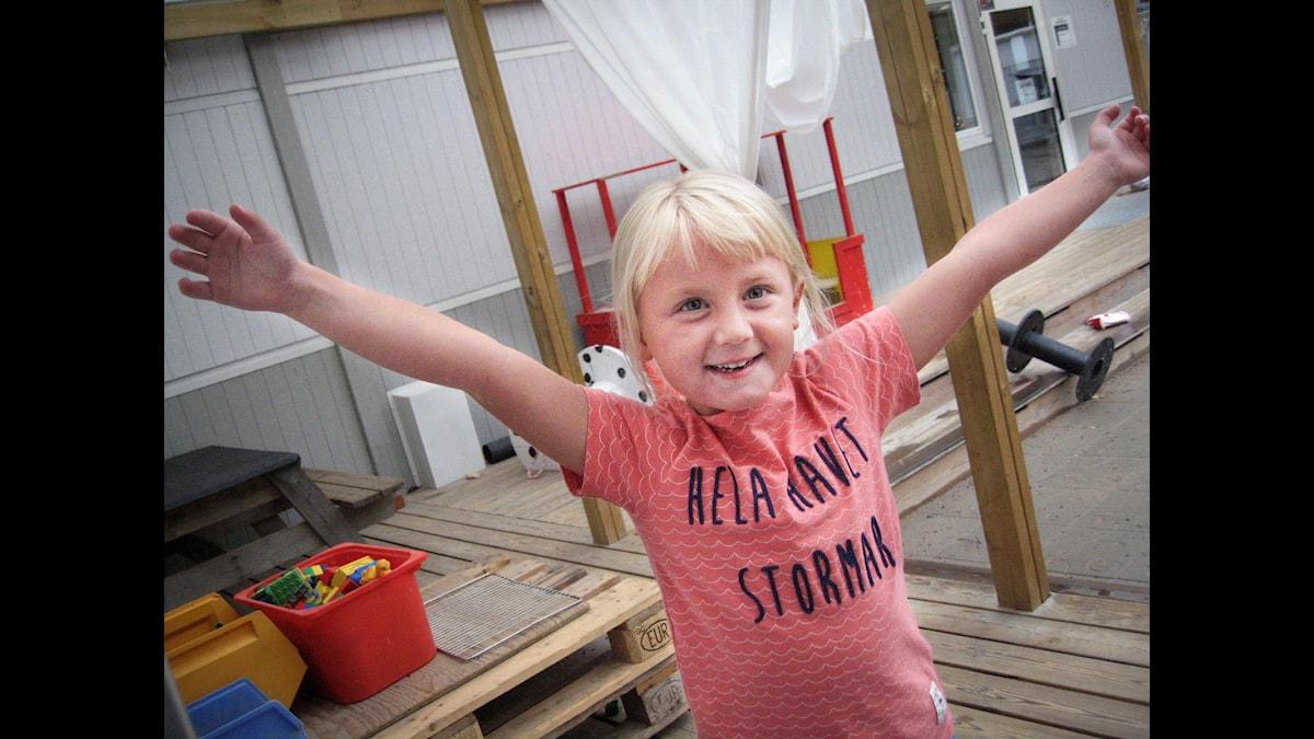 Ebba från Nynäshamn gillar inte att gå på kalas. Foto: Jonas Knutell.
