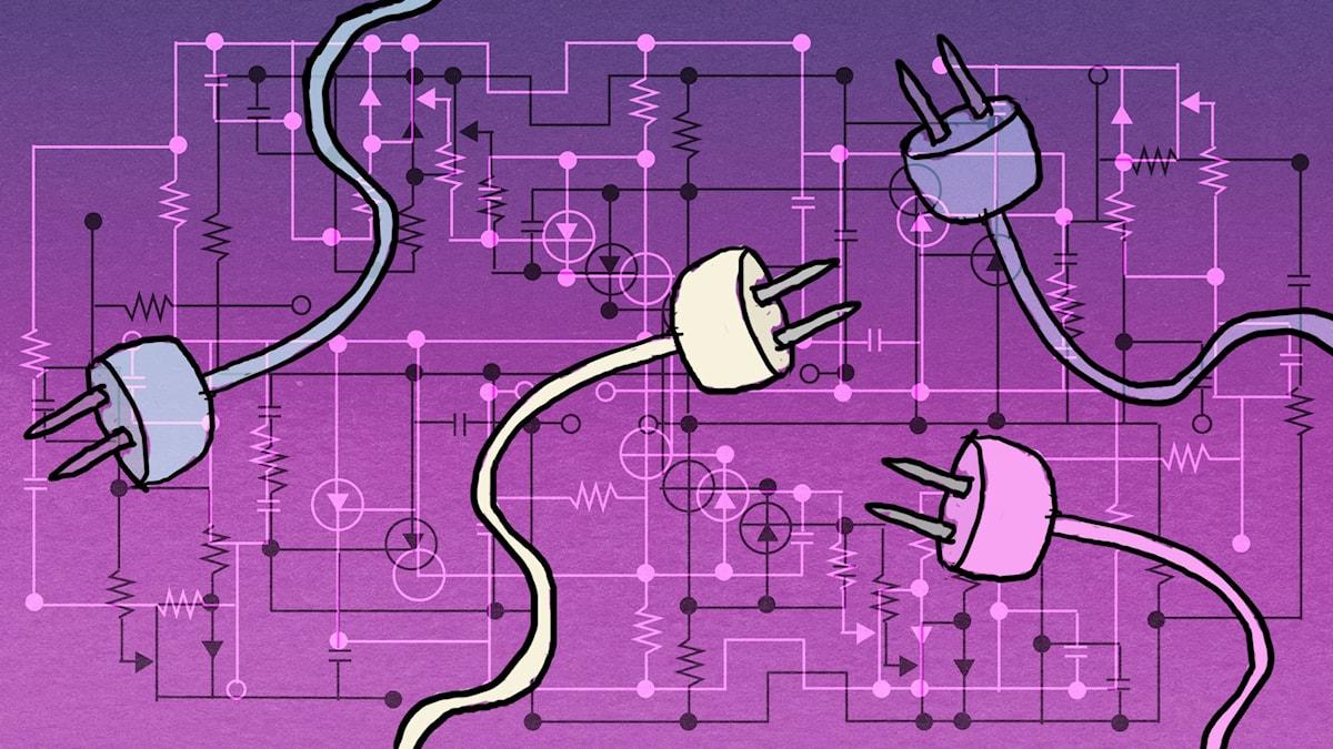 Vem vet vad?: Elektricitet  Illustration: Maria Beskow