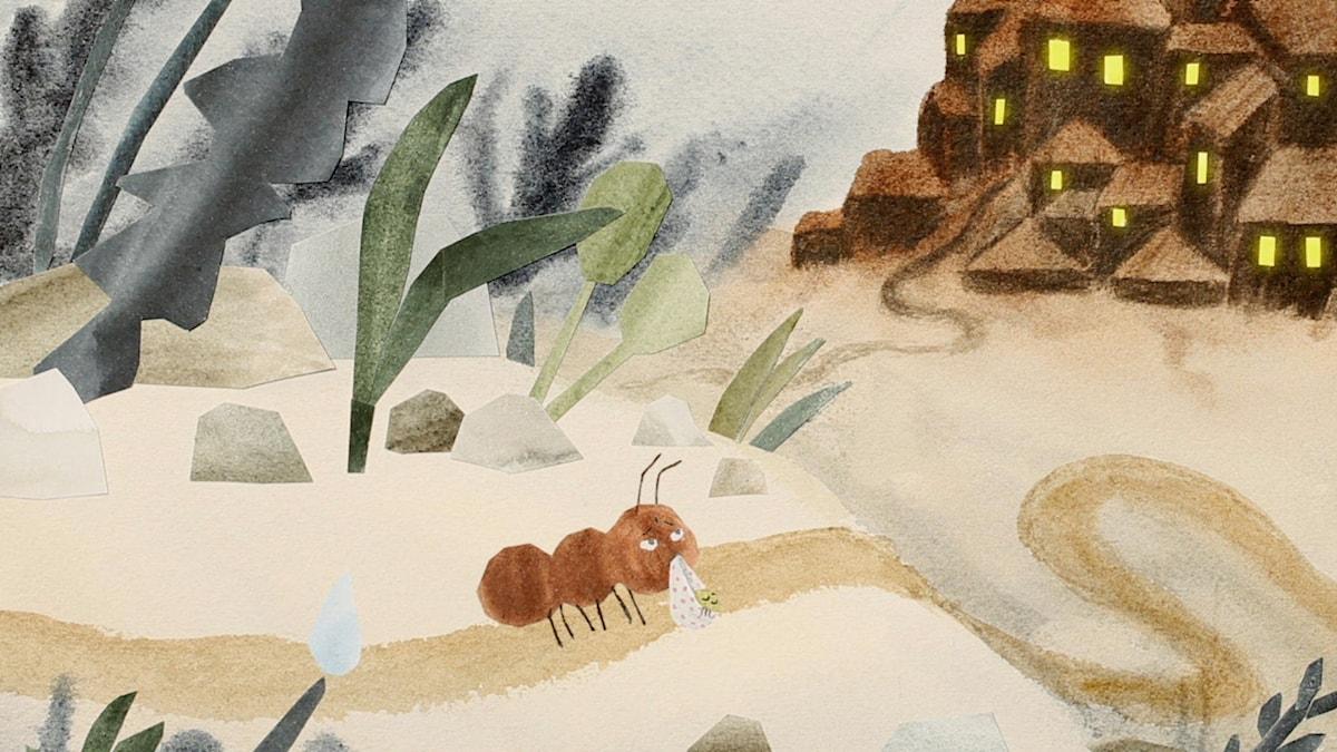 Tripp Trapp Träd: Myran. Illustration: Henning Trollbäck