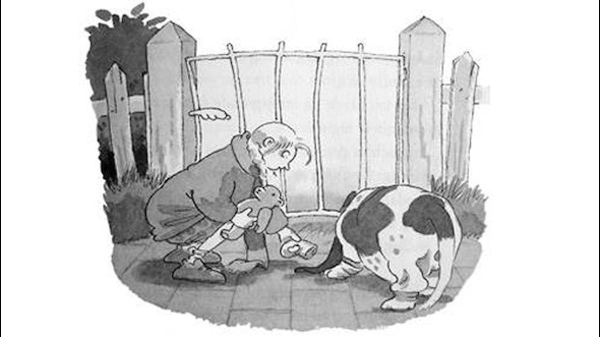 Frankensteinaren del 2. Illustration: Christina Alvner