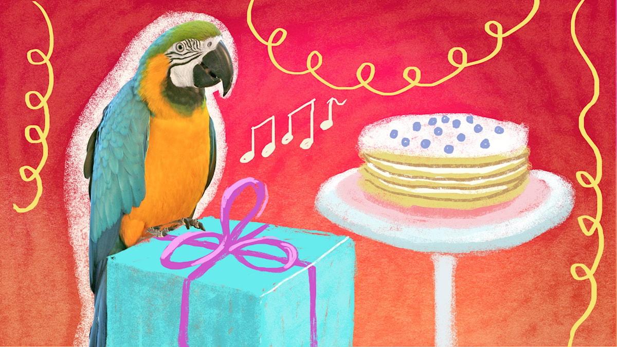 Bengt och Bodil firar födelsedag. Illustration: Maria Beskow.
