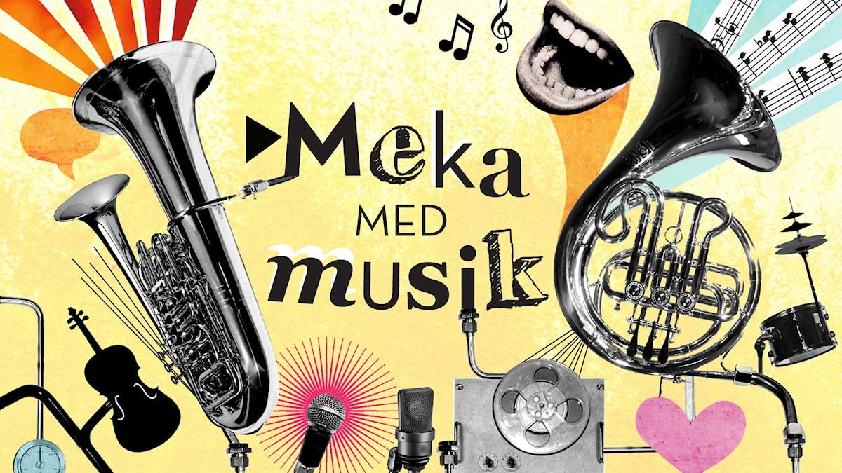 Meka med musik Del 3: Stränggung Illustration: Alaya Vindelman