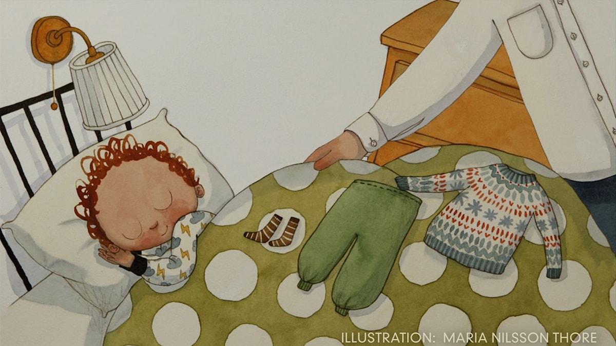 Tripp Trapp Träd: Vakna  Illustration: Maria Nilsson Thore