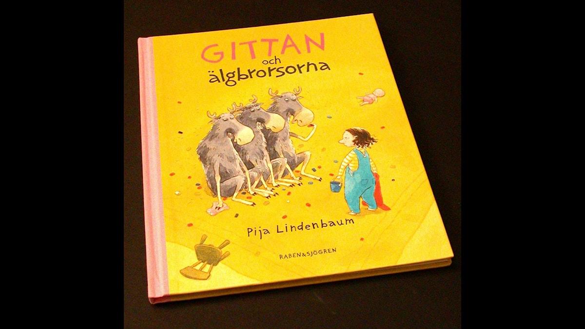 Småsagor: Gittan och älgbrorsorna Illustration: Pija Lindenbaum