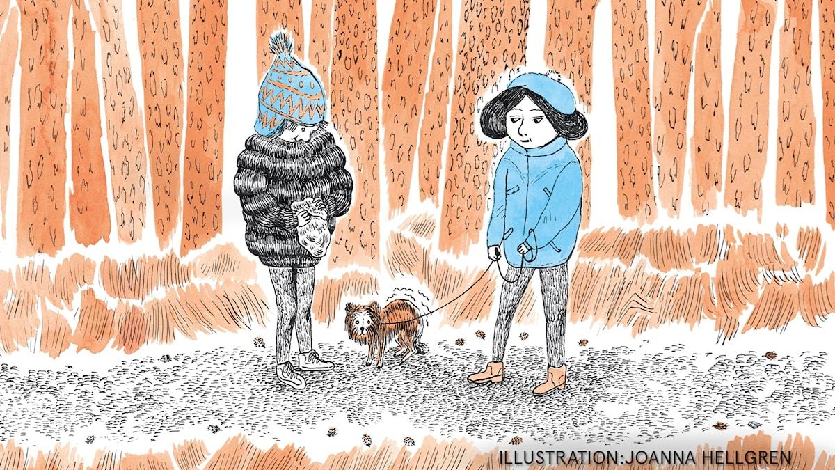 Min Brorsa heter Noa Del 1: Jag och Anisa Illustration: Joanna Hellgren