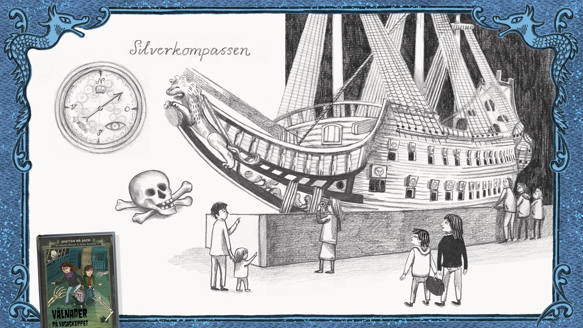 Jakten på Jack, del 9 - Jack, Betty och Rurik är vid Vasaskeppet. Bild: Anna Sandler