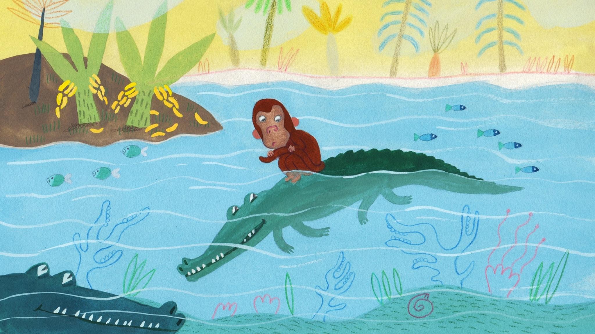Sagor från Senegal: Den hungriga krokodilen