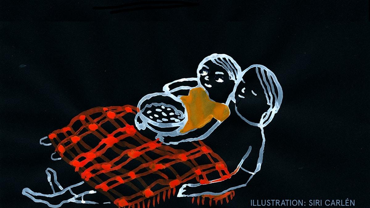 Barnmorgonlåtar Del 5: Frejas favoritdag Illustration: Siri Carlén