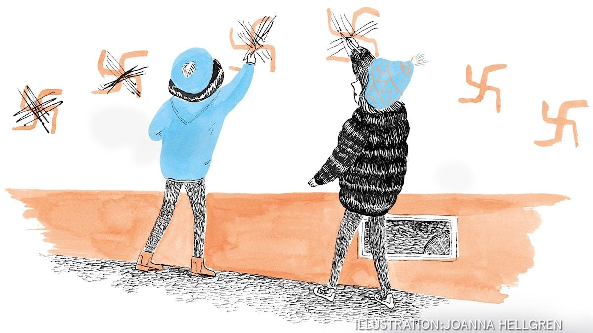 Min brorsa heter Noa  Del 4: Noa är försvunnen. Illustration: Joanna Hellgren