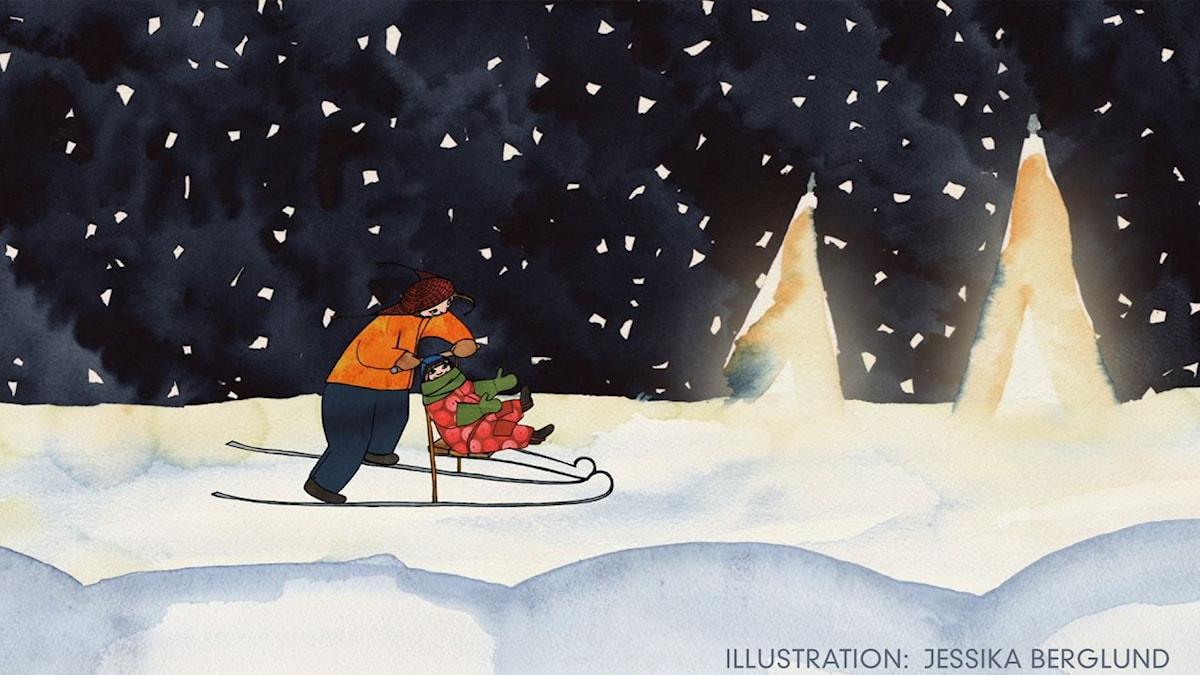 Tripp, Trapp, Träd: Läggdags  Illustration: Jessika Berglund