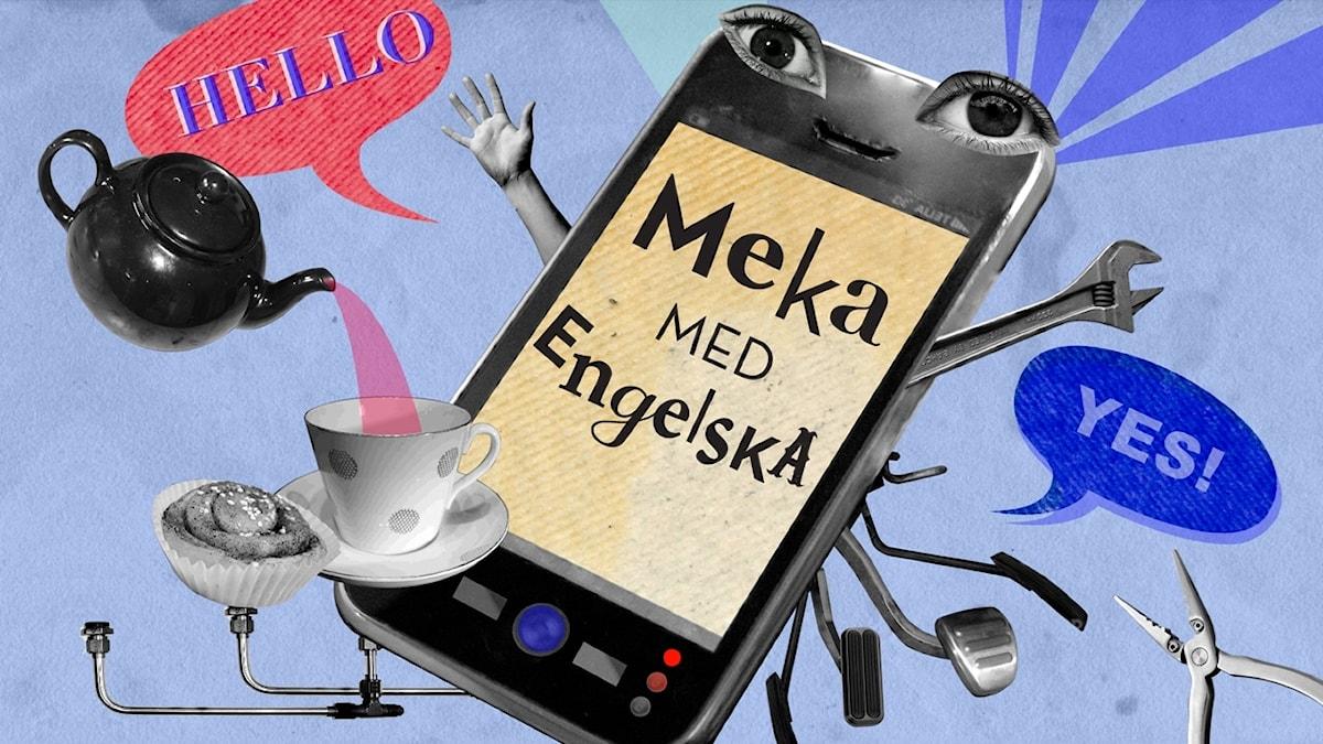 Meka med engelska: Hello  Illustration: Alaya Vindelman