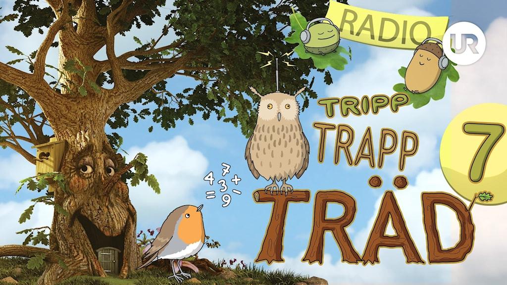 Tripp_Trapp_Träd_Seriebild radio 7_logga