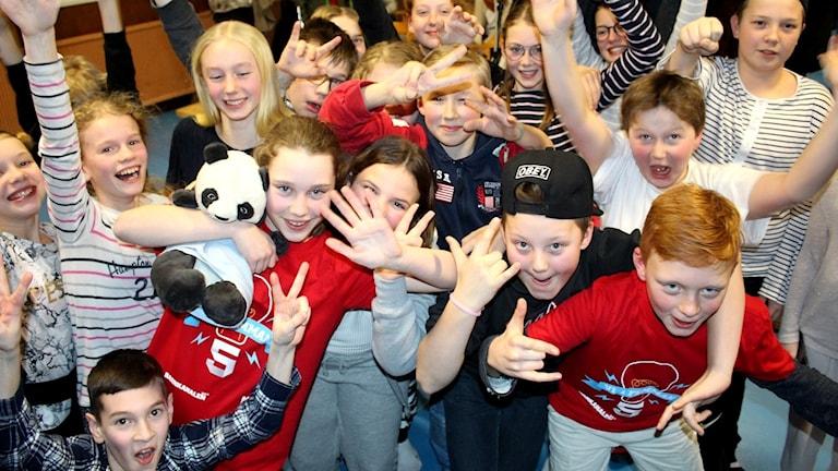 P4 Västernorrland: Ankarviks skola klass 5 är i Vi i femman-final 2017