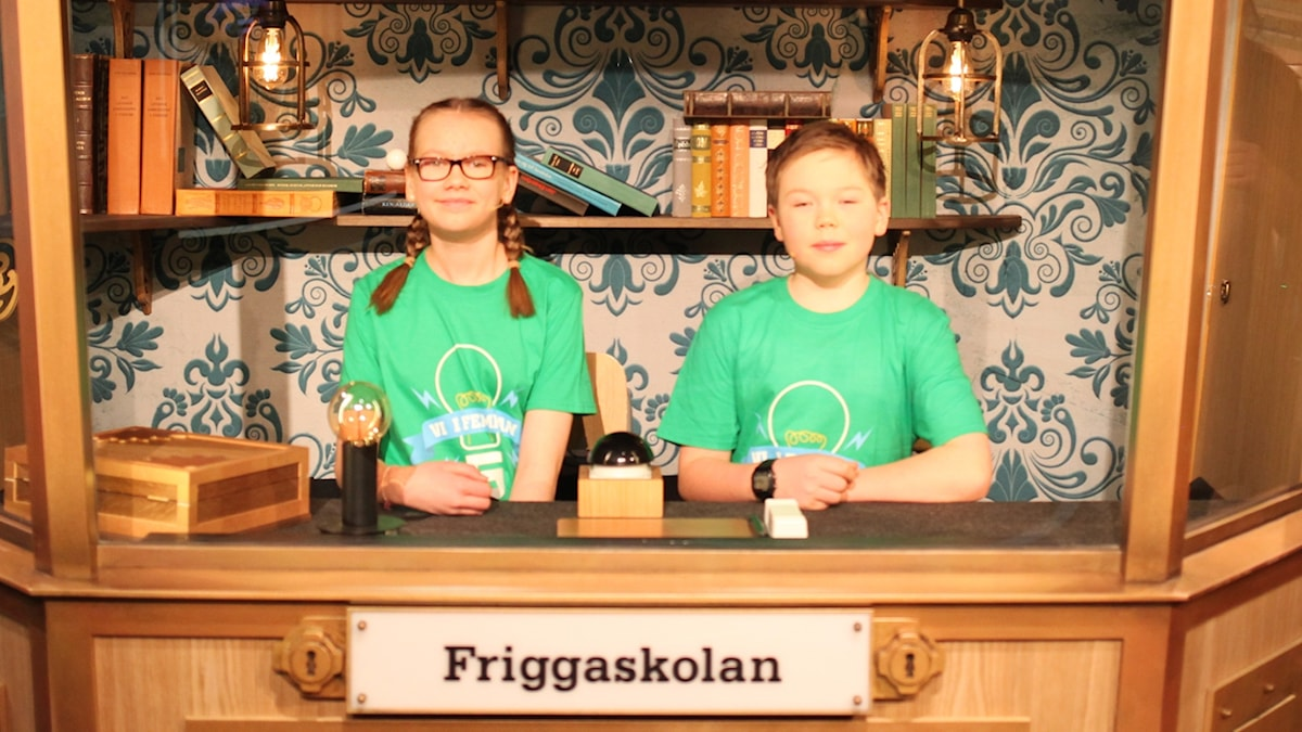 För Friggaskolan i Östersund tävlar Emma Bergman och Ingmar Gyllenhammar.